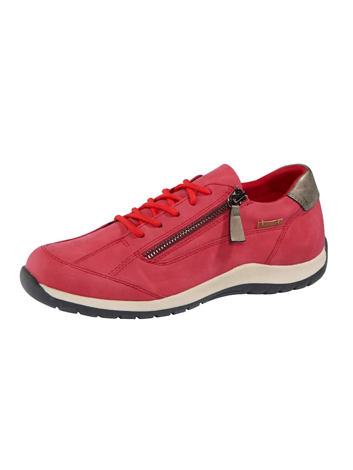Liva Loop Trainers with side zip, Red