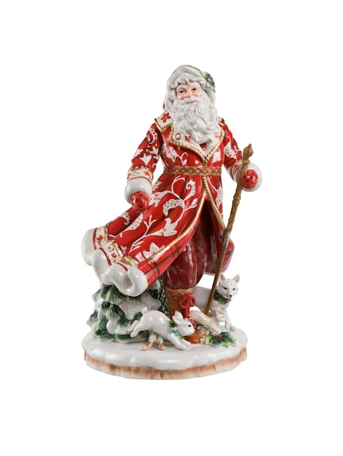 Fitz&Floyd Fitz&Floyd Figur Santa im roten Mantel, Bunt