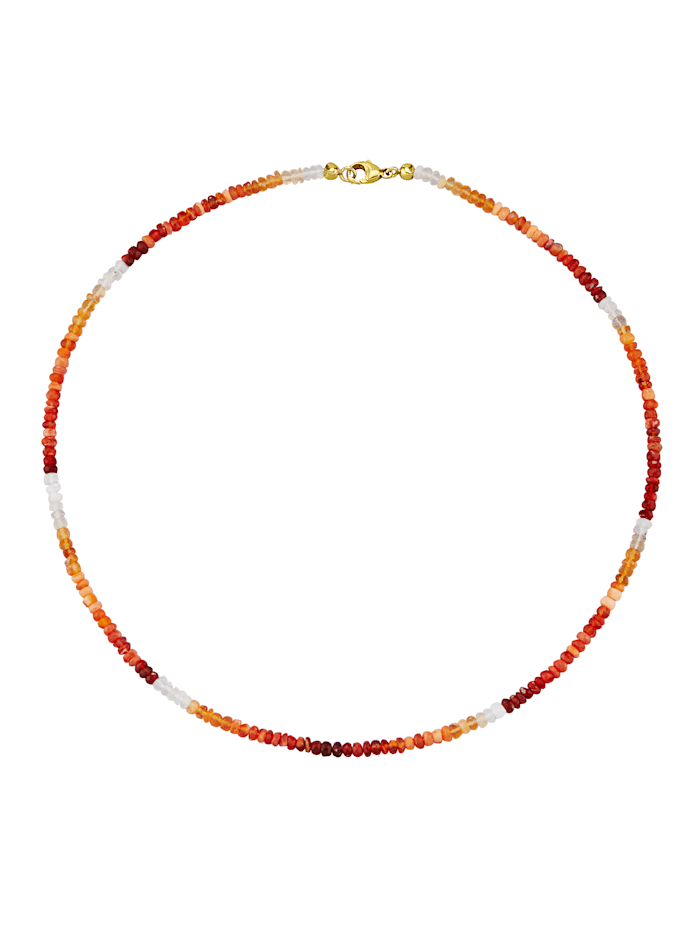 Feueropal-Kette, Rot