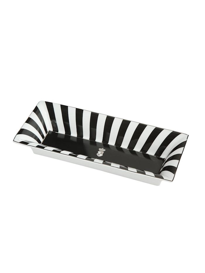 Goebel Schale Maja von Hohenzollern - Design Stripes, schwarz-weiß