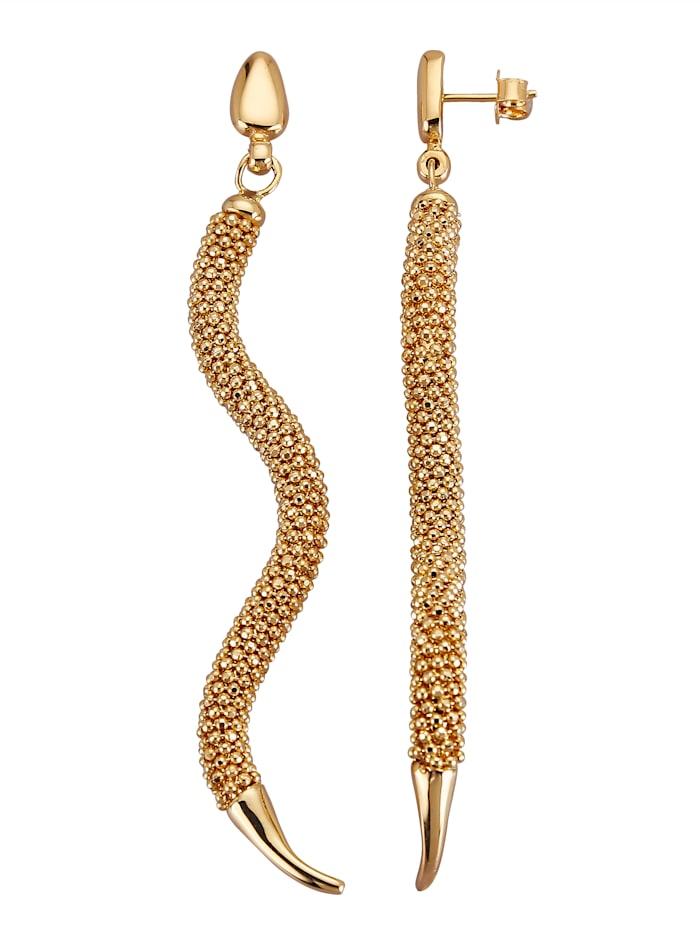 Schlangen-Ohrstecker in Gold 750