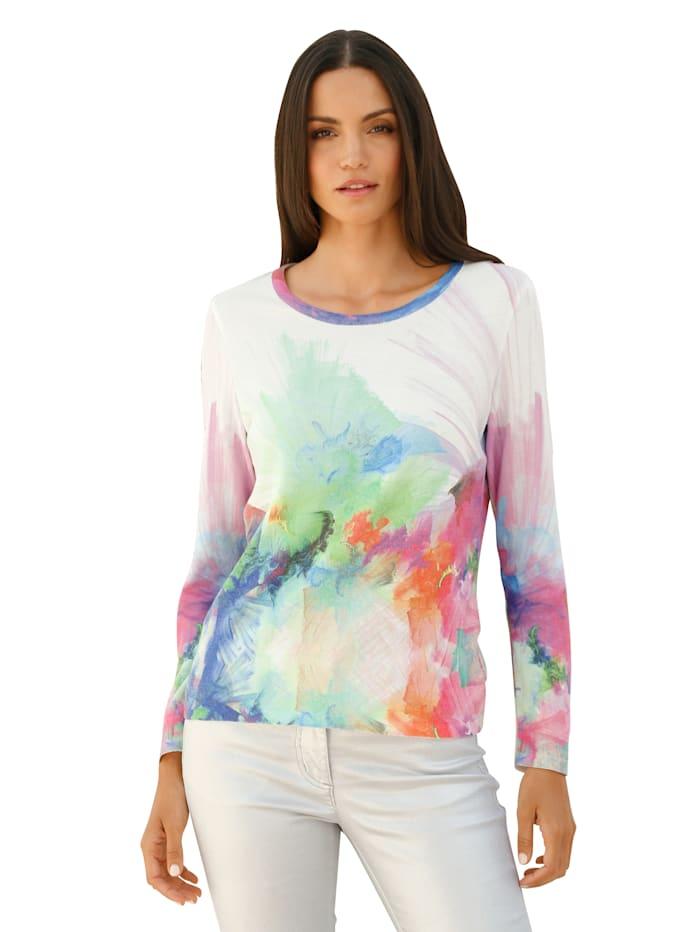 AMY VERMONT Pullover in buntem Batikmuster, Multicolor
