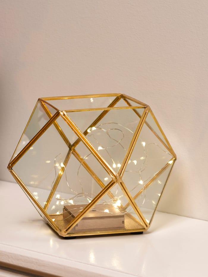 Star LED Würfellampe, goldfarben