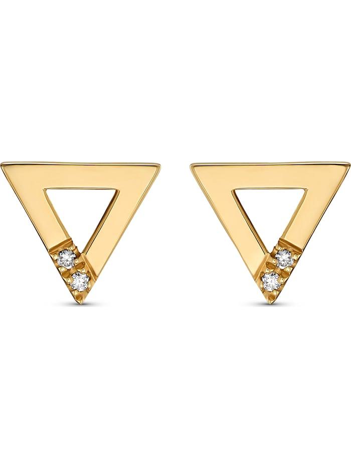 CHRIST Diamonds CHRIST Diamonds Damen-Ohrhänger 375er Gelbgold 4 Diamant, gelbgold