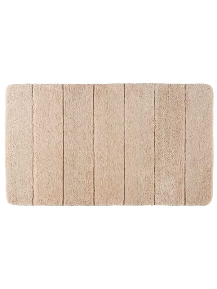 Wenko Badteppich Steps Sand, 70 x 120 cm, Mikrofaser, Polyester/Mikrofaser: Beige