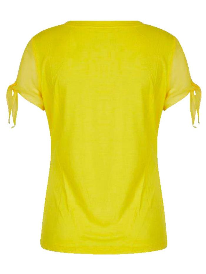 T-Shirt mit Perlen und Stass