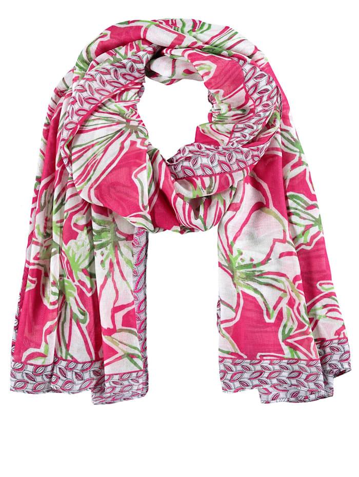 Gerry Weber Schal mit farbenfrohem Muster, azalea weiß palm druck