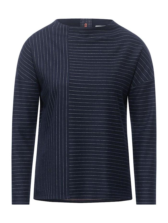 Cecil Nadelstreifen-Shirt, deep blue