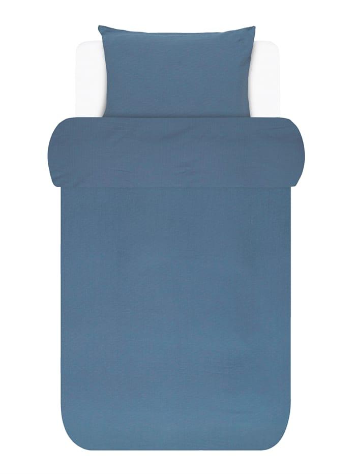 Marc O'Polo Baumwoll Bettwäsche 'Kuva', blau