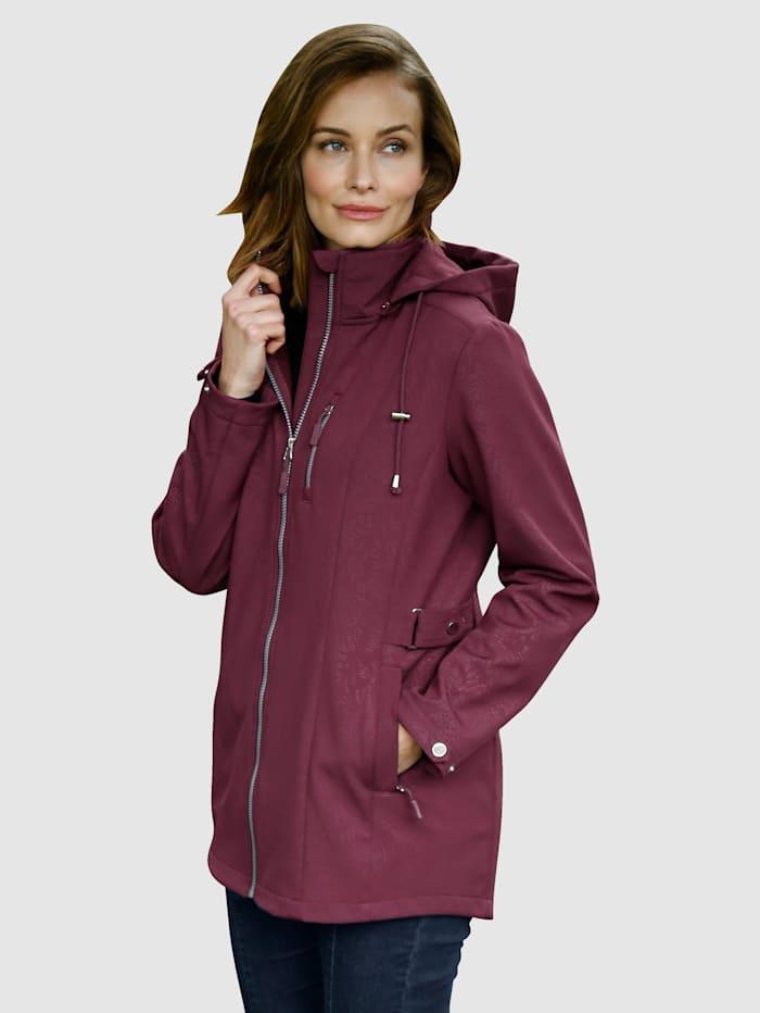 Paola Softshell jas met fleece aan de binnenkant, Donkerpaars