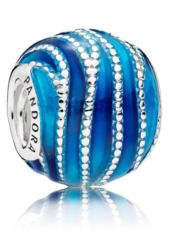 Pandora Charm -Blauer Wirbel- 797012ENMX, Blau