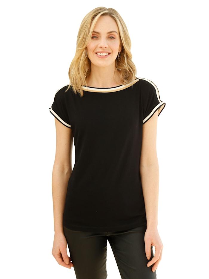 AMY VERMONT Shirt met sierband, Zwart
