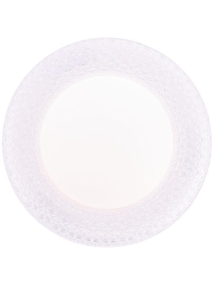 Netta LED Wand- und Deckenleuchte 40cm weiß/transparent