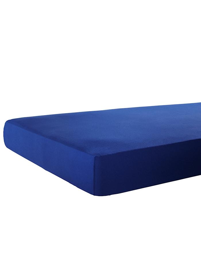 Webschatz Spannbetttuch, dunkelblau