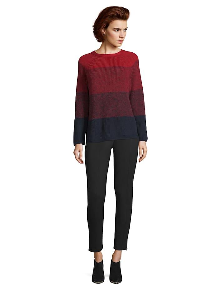 Grobstrick-Pullover mit Color Blocking