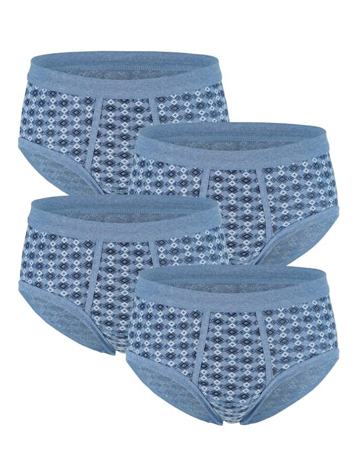 G Gregory Puuvillaiset alushousut 4/pakkaus, 4x meleerattu vaaleansininen