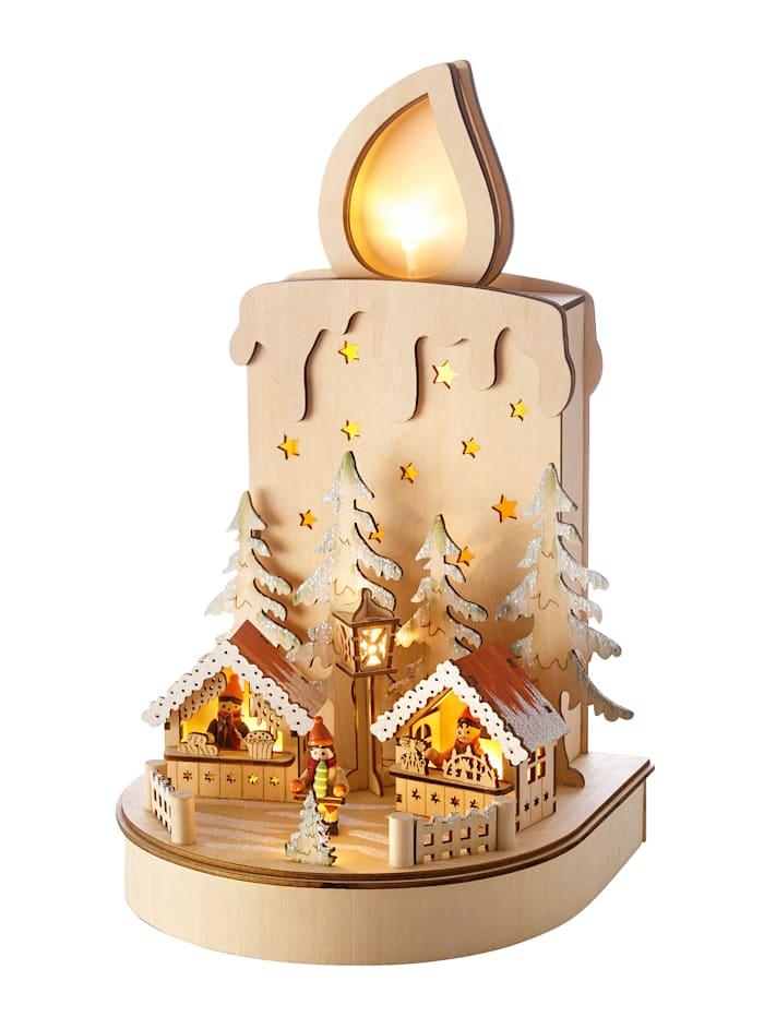 Dekorationsfigur Kerze, Mehrfarbig