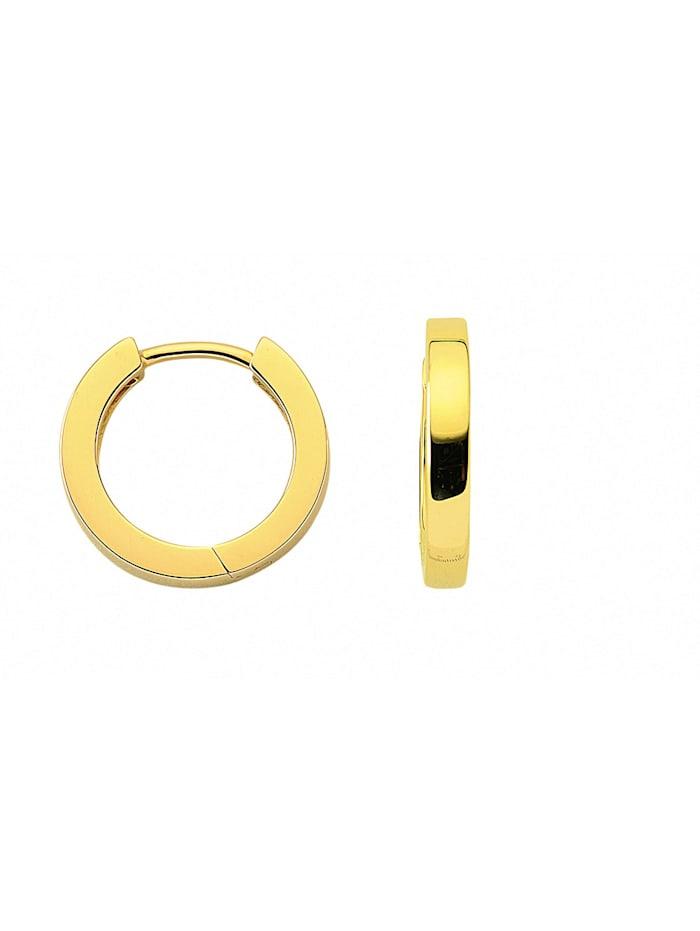 1001 Diamonds Damen Goldschmuck 585 Gold Ohrringe / Creolen Ø 15,2 mm, gold