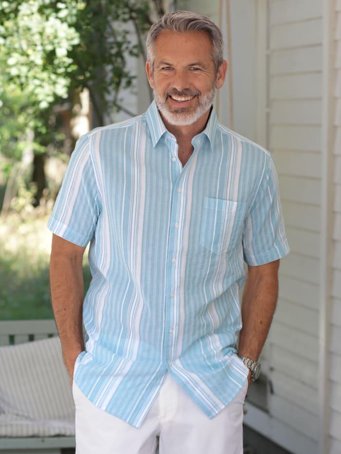 BABISTA Seersuckerhemd mit garngefärbtem Streifenmuster, Blau