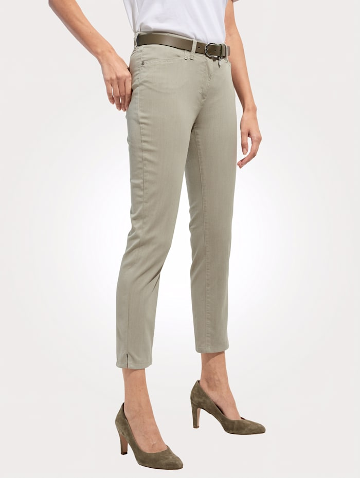 Toni Pantalon de coupe Perfect Shape, Vert jonc