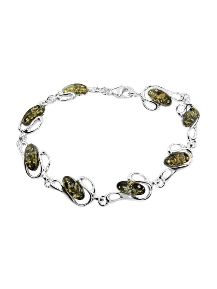 OSTSEE-SCHMUCK Armband - Ortrun - Silber 925/000 - Bernstein, silber