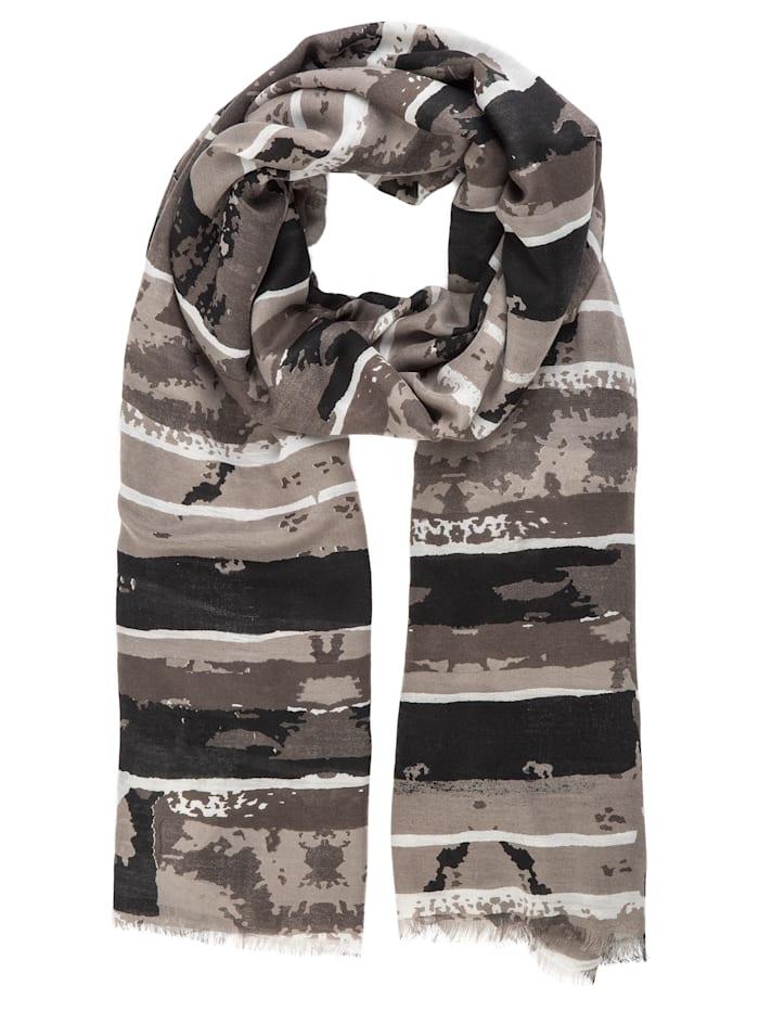 APART Schal mit Streifen, grau
