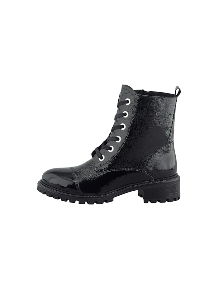Schnür-Boots Lack-Boots