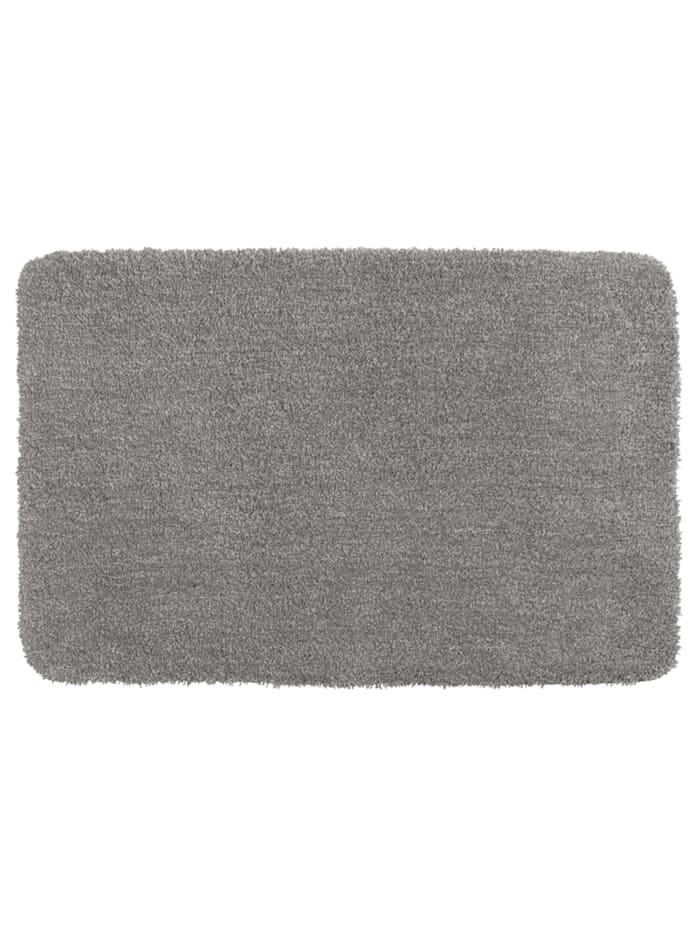 Wenko Badteppich Mélange Light Grey, 55 x 65 cm, Mikrofaser, Polyester/Mikrofaser: Grau - Hellgrau