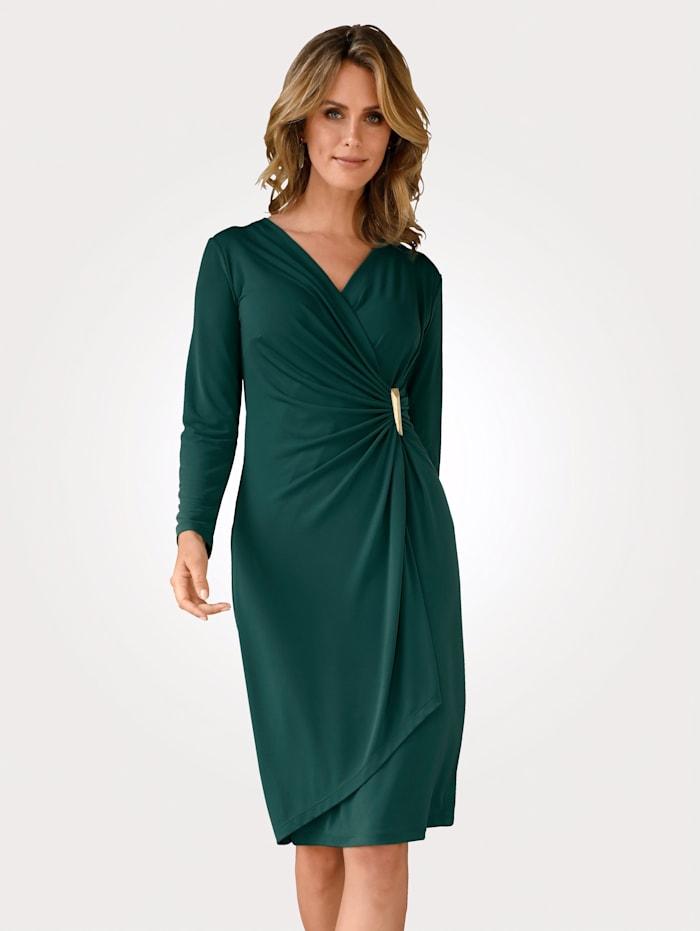 MONA Kleid mit dekorativer Schnalle, Grün