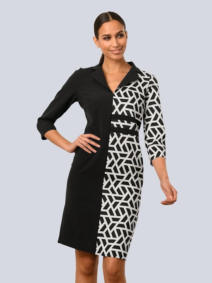 Alba Moda Kleid aus besonderer Stretch-Qualität, Schwarz/Weiß