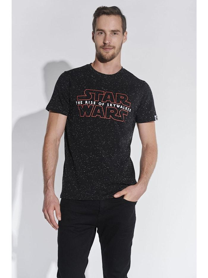 course Herren T-Shirt mit Star Wars Aufdruck, Schwarz