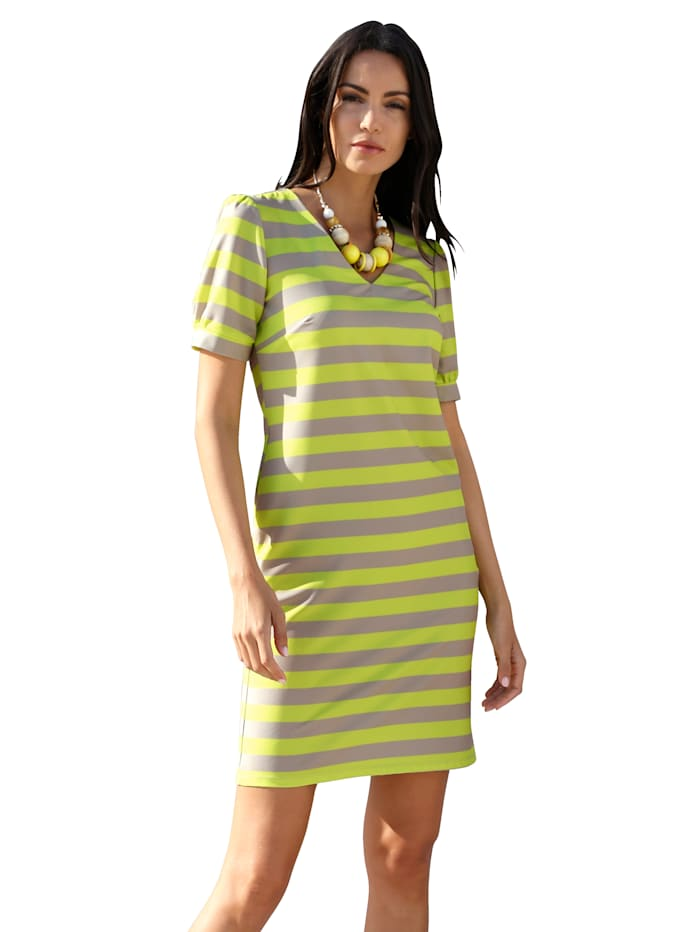 Kleid allover gestreift