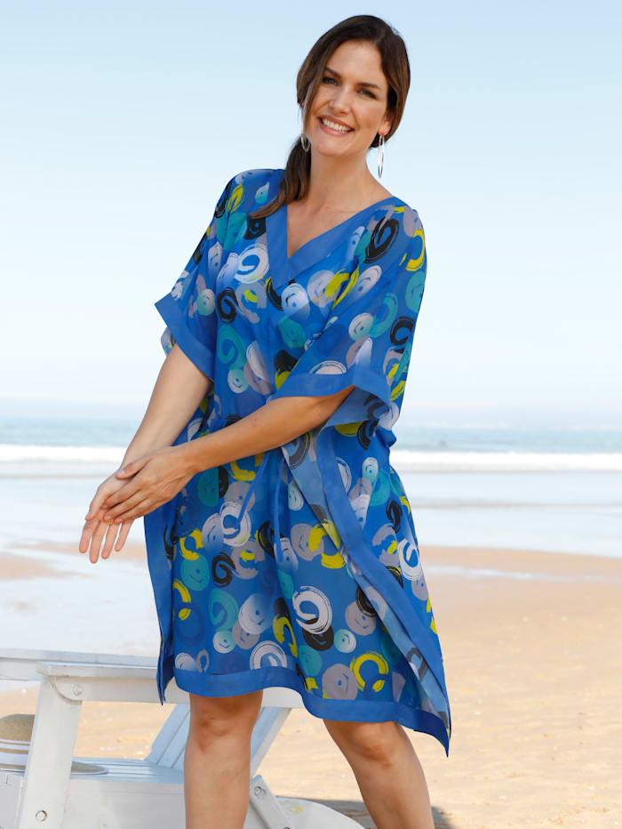 Maritim Tuniek Shirt in ponchomodel, Turquoise/Blauw/Geel