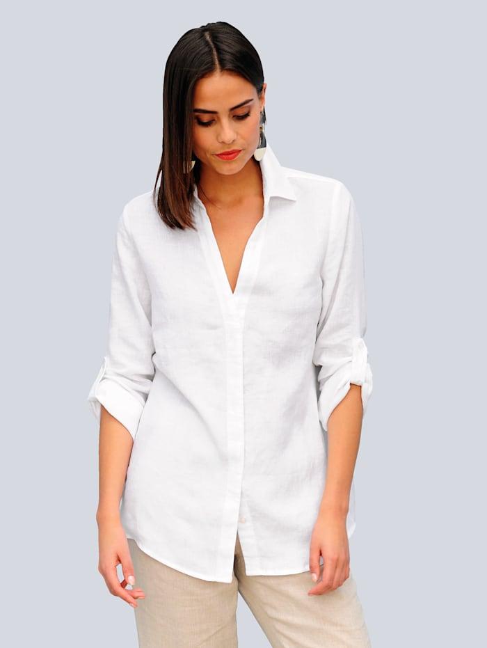 Alba Moda Pellavainen paitapusero, Valkoinen