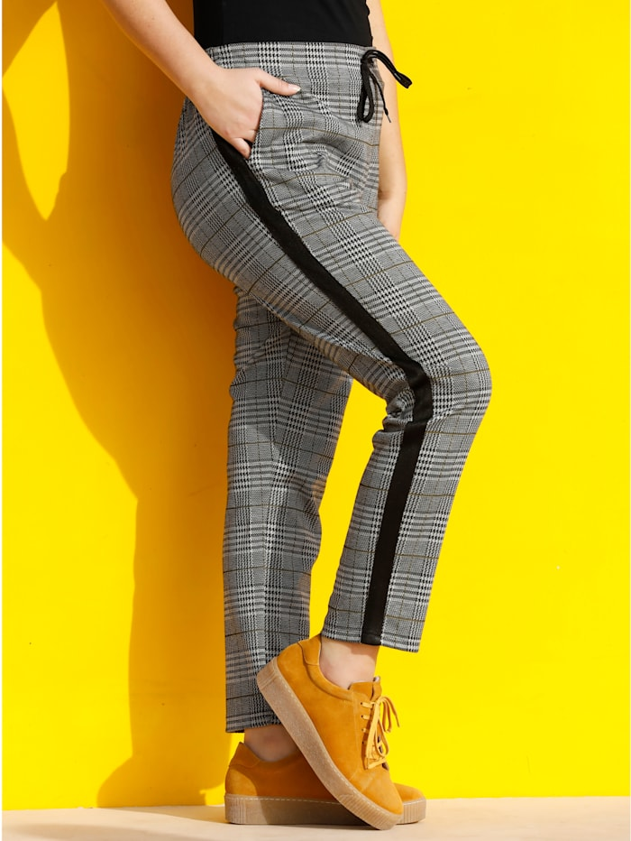 MIAMODA Hose aus formstabiler und elastischer Qualität, Gelb/Schwarz/Weiß