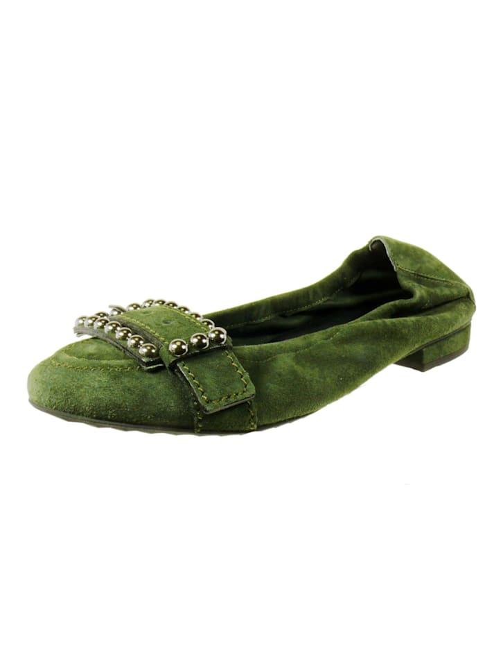 Kennel & Schmenger Ballerinas, dunkel-grün
