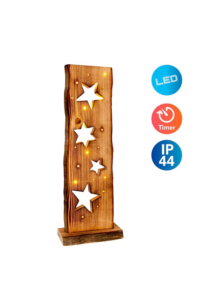 LED-Holz-Weihnachtsleuchte Sternenmotiv