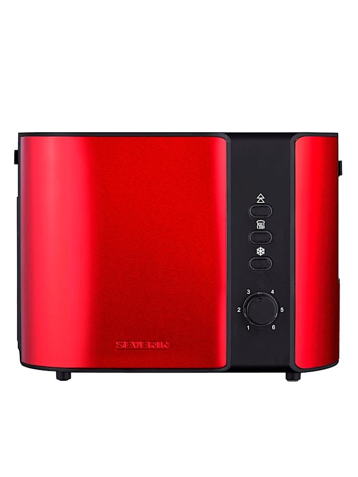 Severin Severin Automatik-Toaster AT2217, rot metallic/schwarz
