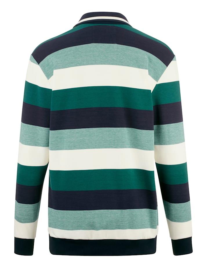 Sweatshirt met polokraag