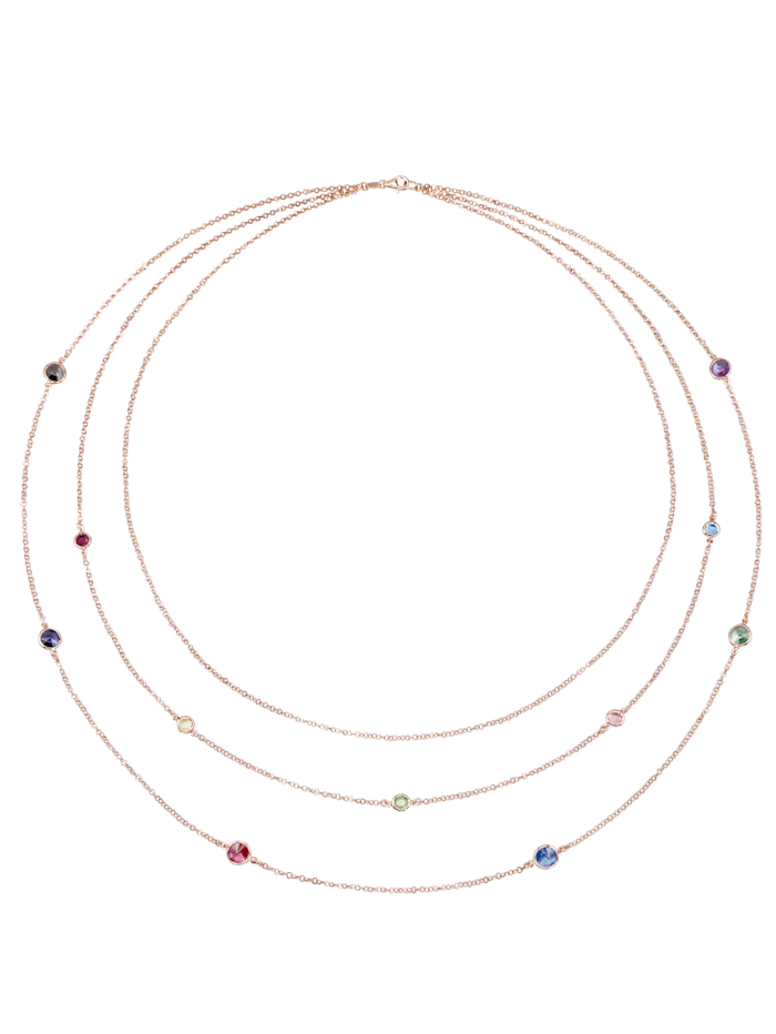 AMY VERMONT Collier 3 rangs serti de cristaux Swarovski, Coloris argent