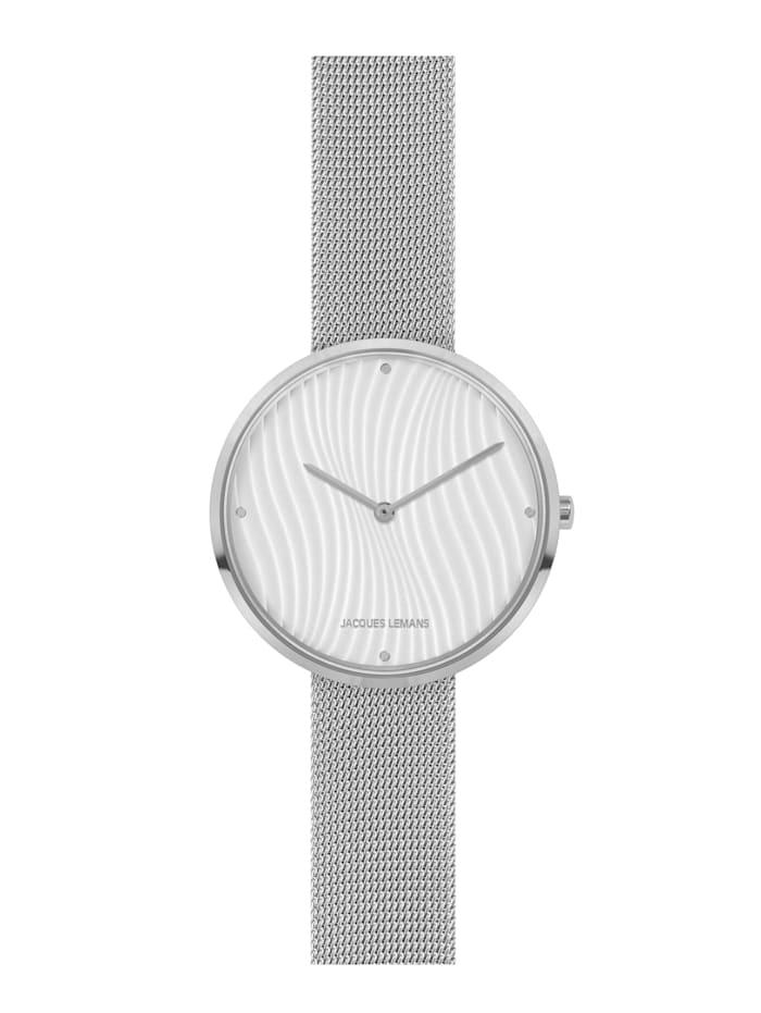 Jacques Lemans Damenuhr Serie: Design Collection,Kollektion: Classic, 1-2093G, Silberfarben
