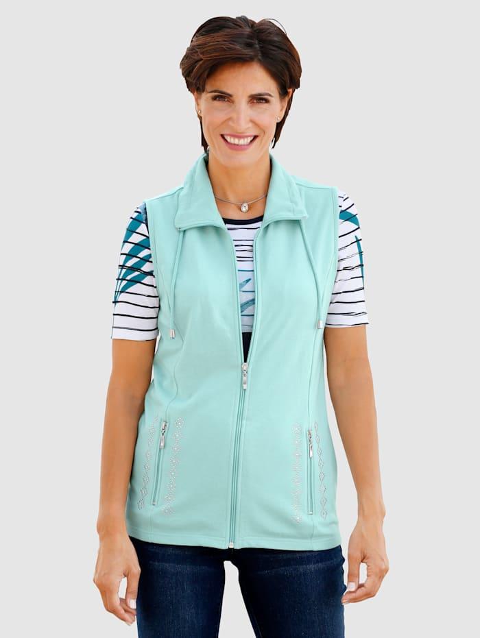 Paola Väst i sweatshirtmaterial, Mint