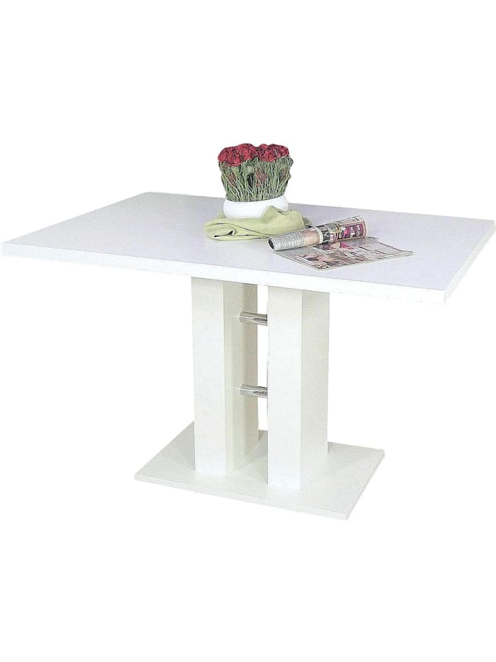 Möbel-Direkt-Online Säulentisch, Breite 120 cm Alice, weiß
