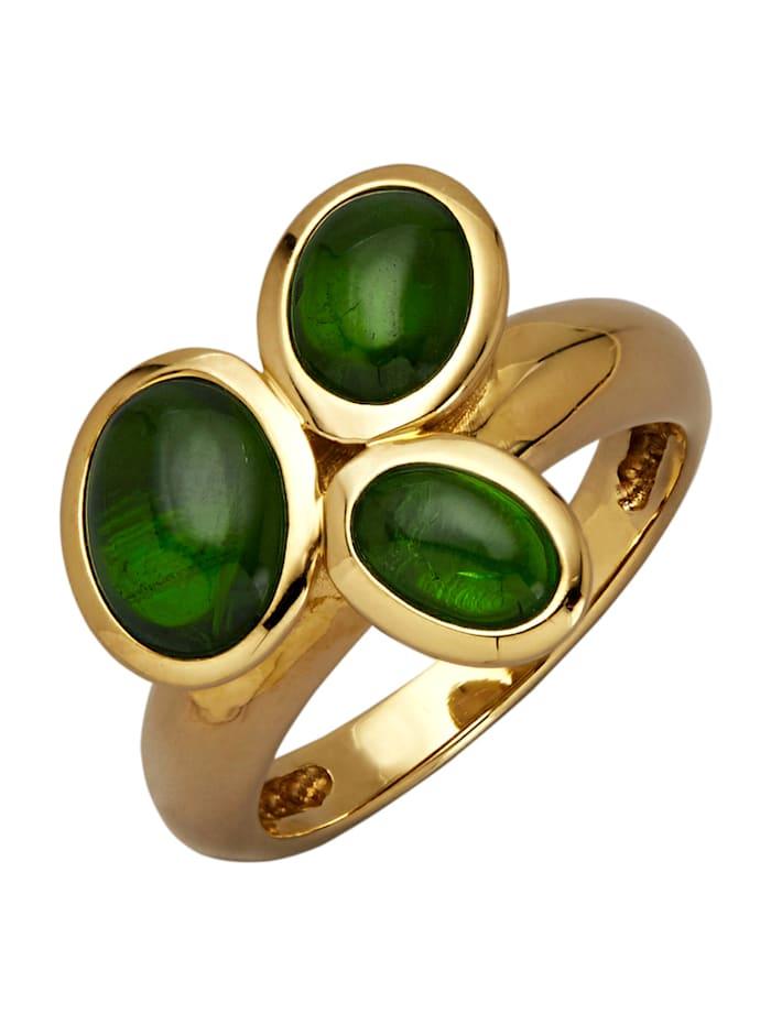 Diemer Farbstein Damenring, Grün