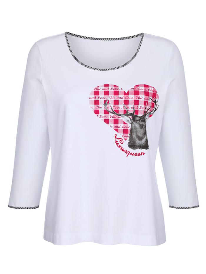 T-shirt à motif imprimé placé