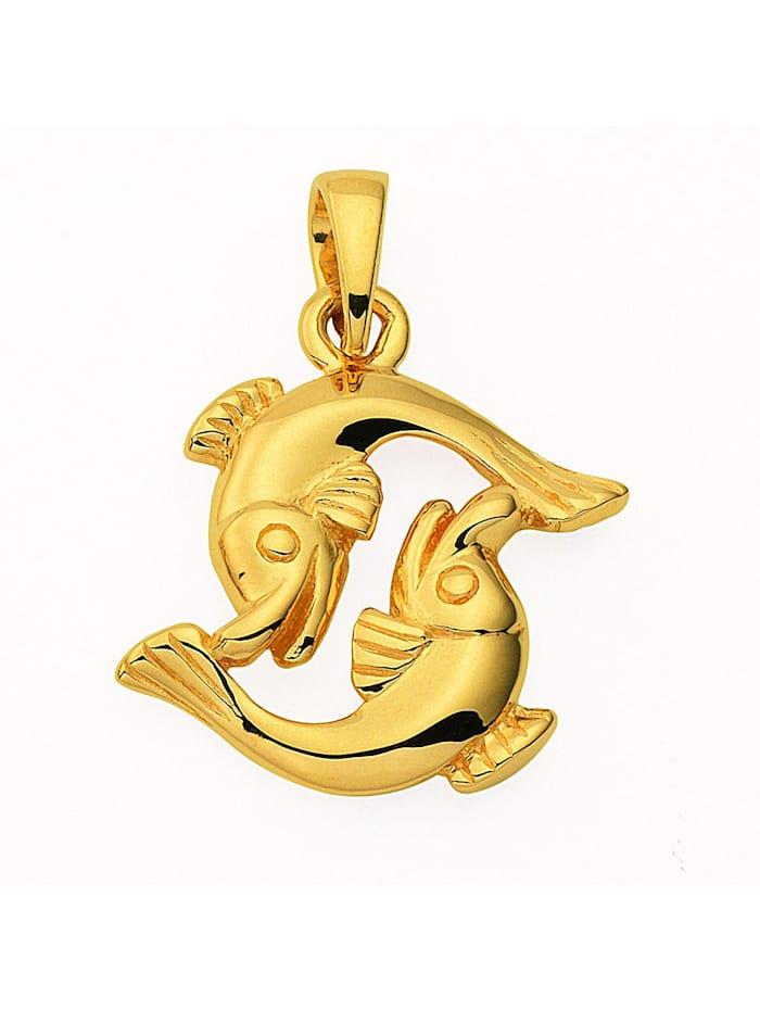 1001 Diamonds Damen & Herren Goldschmuck 585 Gold Sternzeichen Anhänger Fisch, gold