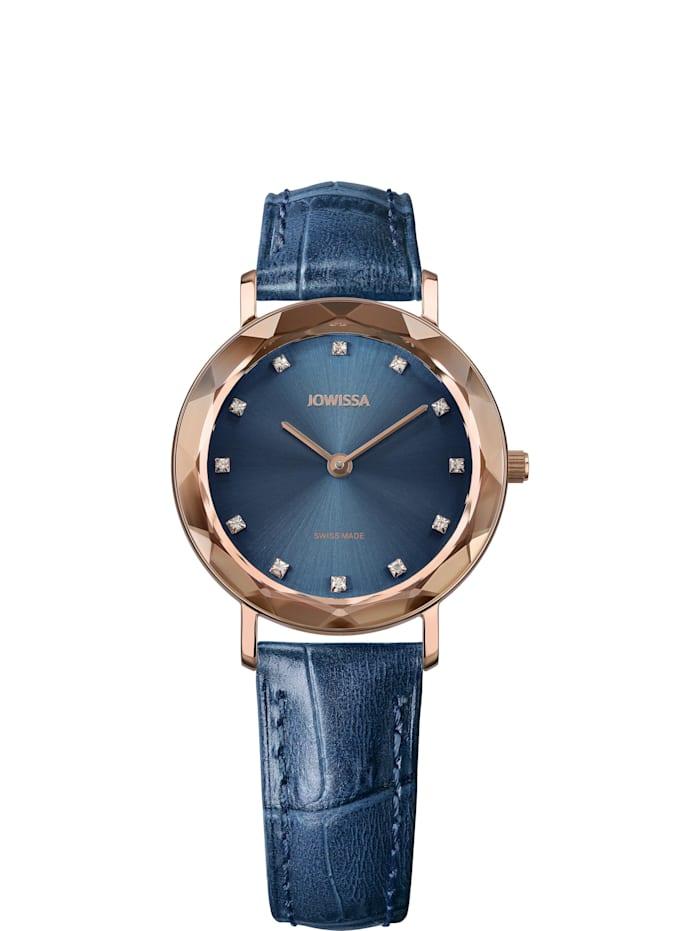 Jowissa Quarzuhr Aura Swiss Ladies Watch, blau