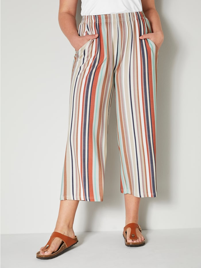 Angel of Style Culotte met streeppatroon, Multicolor