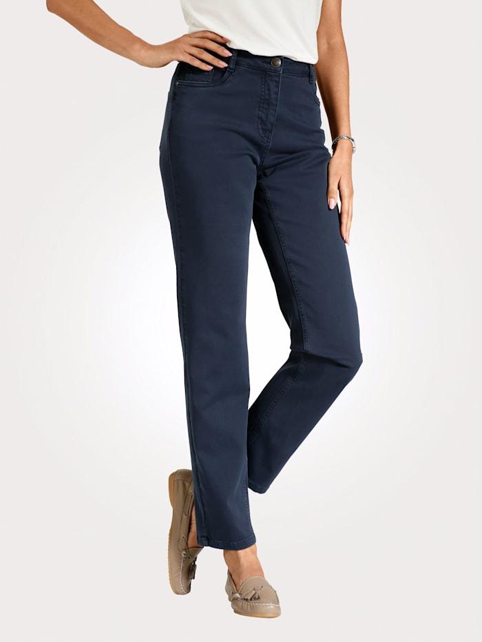 MONA Pantalon partiellement extensible en grandes tailles, Marine