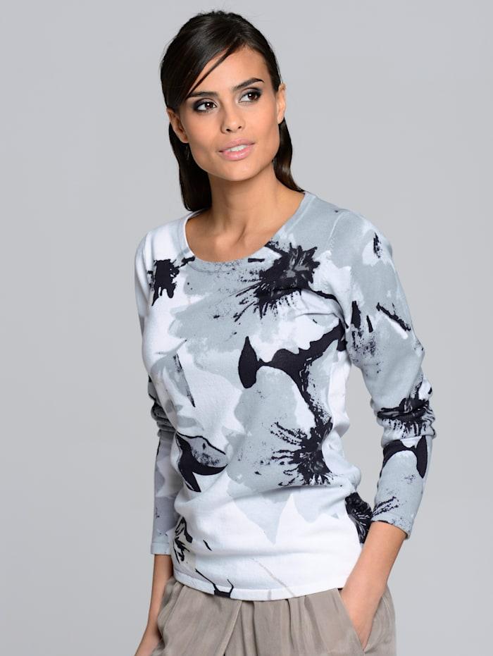 Pullover mit ALBA MODA exklusivem Floraldruck